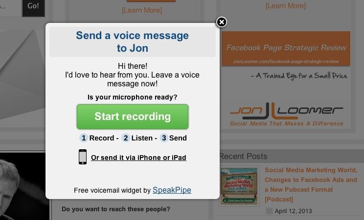 Invia un messaggio vocale