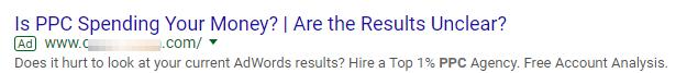 annunci google senza estensioni annuncio