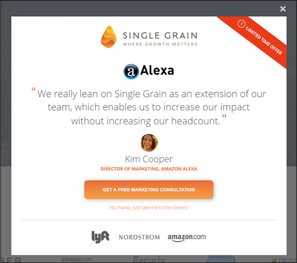 Annuncio Single Grain con testimonianze di dipendenti Amazon