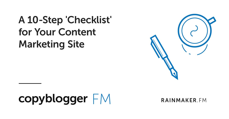 """Una """"lista di controllo"""" in 10 passaggi per il tuo sito di marketing dei contenuti"""