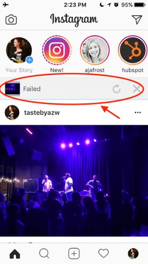 """Errore nel mostrare se la tua storia di Instagram non è riuscita a caricare """"title ="""" Errore che mostra se la tua storia di Instagram non è riuscita a caricare """"width ="""" 300 """"data-constrained ="""" true """"style ="""" width: 300px; """"caption ="""" false """"srcset = """"https://blog.hubspot.com/hs-fs/hubfs/Upload%20failed.png?t=1534646762607&width=150&name=Upload%20failed.png 150w, https://blog.hubspot.com/hs-fs/ hubfs / Upload% 20failed.png? t = 1534646762607 & width = 300 & name = Carica% 20failed.png 300w, https://blog.hubspot.com/hs-fs/hubfs/Upload%20failed.png?t=1534646762607&width=450&name=Upload %20failed.png 450w, https://blog.hubspot.com/hs-fs/hubfs/Upload%20failed.png?t=1534646762607&width=600&name=Upload%20failed.png 600w, https://blog.hubspot.com /hs-fs/hubfs/Upload%20failed.png?t=1534646762607&width=750&name=Upload%20failed.png 750w, https://blog.hubspot.com/hs-fs/hubfs/Upload%20failed.png?t= 1534646762607&width=900&name=Upload%20failed.png 900w"""" sizes=""""(max-width: 300px) 100vw, 300px"""