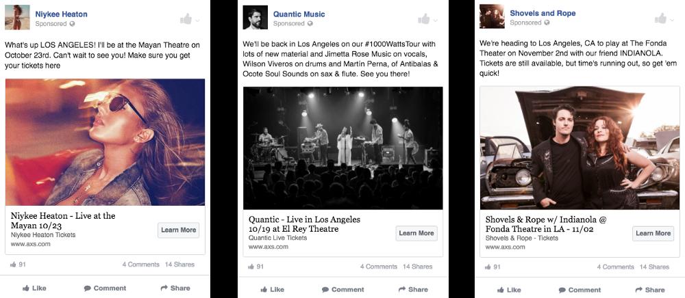 pagine di destinazione degli annunci di Facebook