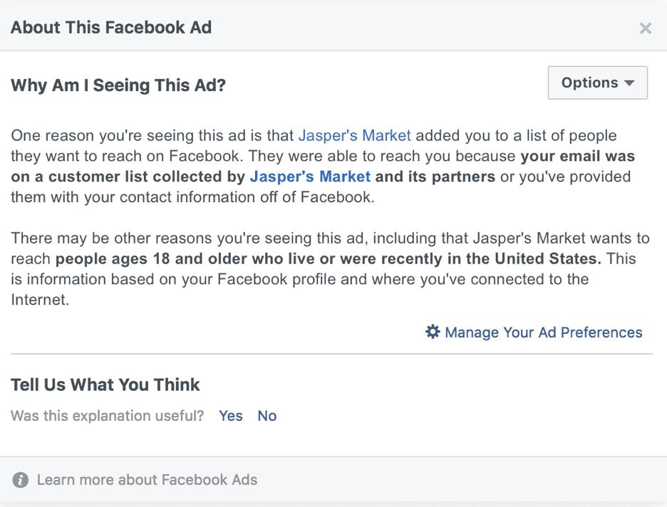 Aggiornamenti di Facebook