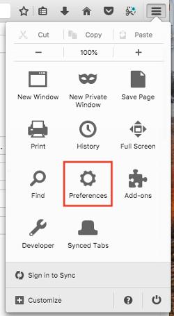 "Icona Preferenze nel menu impostazioni nel browser Firefox ""width ="" 250 ""style ="" width: 250px; blocco di visualizzazione; margin-left: auto; margin-right: auto; ""srcset ="" https://blog.hubspot.com/hs-fs/hubfs/firefox-preferences.png?t=1535519301939&width=125&name=firefox-preferences.png 125w, https: // blog .hubspot.com / hs-fs / hubfs / firefox-preferences.png? t = 1535519301939 & width = 250 & name = firefox-preferences.png 250w, https://blog.hubspot.com/hs-fs/hubfs/firefox-preferences. png? t = 1535519301939 & width = 375 & name = firefox-preferences.png 375w, https://blog.hubspot.com/hs-fs/hubfs/firefox-preferences.png?t=1535519301939&width=500&name=firefox-preferences.png 500w, https://blog.hubspot.com/hs-fs/hubfs/firefox-preferences.png?t=1535519301939&width=625&name=firefox-preferences.png 625w, https://blog.hubspot.com/hs-fs/hubfs /firefox-preferences.png?t=1535519301939&width=750&name=firefox-preferences.png 750w ""sizes ="" (larghezza massima: 250px) 100vw, 250px"