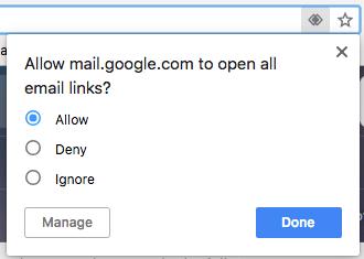 "Pulsante Consenti blu per effettuare il client di posta elettronica predefinito di Gmail nel browser Chrome ""srcset ="" https://blog.hubspot.com/hs-fs/hubfs/chrome-gmail-handler.png?t=1535519301939&width=165&name=chrome-gmail- handler.png 165w, https://blog.hubspot.com/hs-fs/hubfs/chrome-gmail-handler.png?t=1535519301939&width=330&name=chrome-gmail-handler.png 330w, https: // blog. hubspot.com/hs-fs/hubfs/chrome-gmail-handler.png?t=1535519301939&width=495&name=chrome-gmail-handler.png 495w, https://blog.hubspot.com/hs-fs/hubfs/chrome -gmail-handler.png? t = 1535519301939 & width = 660 & name = chrome-gmail-handler.png 660w, https://blog.hubspot.com/hs-fs/hubfs/chrome-gmail-handler.png?t=1535519301939&width= 825 & name = chrome-gmail-handler.png 825w, https://blog.hubspot.com/hs-fs/hubfs/chrome-gmail-handler.png?t=1535519301939&width=990&name=chrome-gmail-handler.png 990w "" sizes = ""(larghezza massima: 330px) 100vw, 330px"