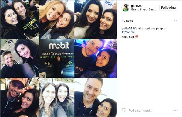 La condivisione dei social media da Traffic & Conversion Summit 2017 mostra le persone che hanno incontrato durante l'evento
