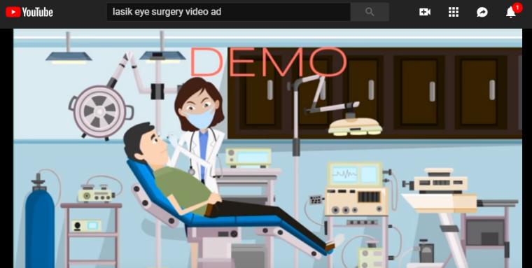 annuncio video di chirurgia dell'occhio di lasik