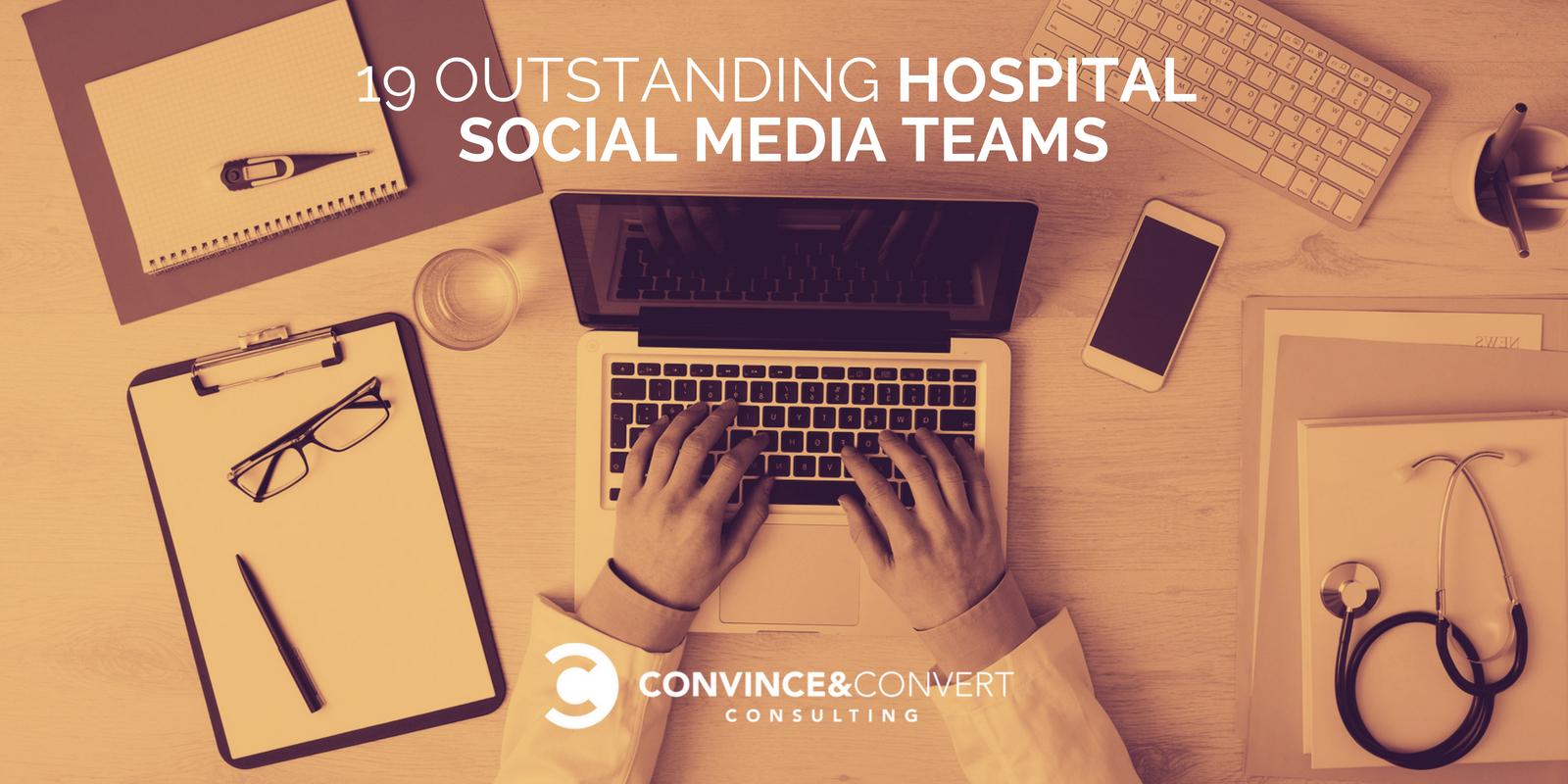 19 straordinarie squadre di media sociali ospedalieri