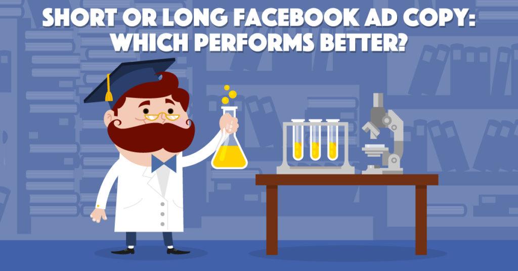 lunghezza della copia dell'annuncio facebook - esperimento di adespresso