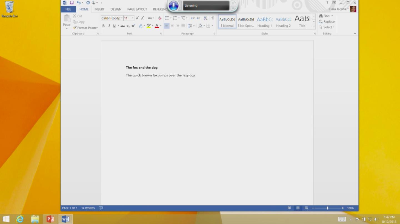 Software di riconoscimento vocale di Windows