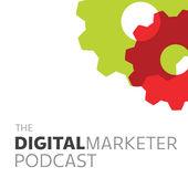 Il logo aziendale del podcast DigitalMarketer.