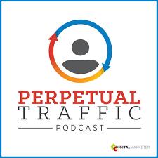 Logo Podcast perpetuo del traffico di DigitalMarketer.