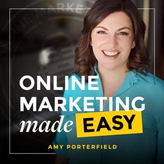 Il logo di marketing online semplificato di Amy Porterfield.