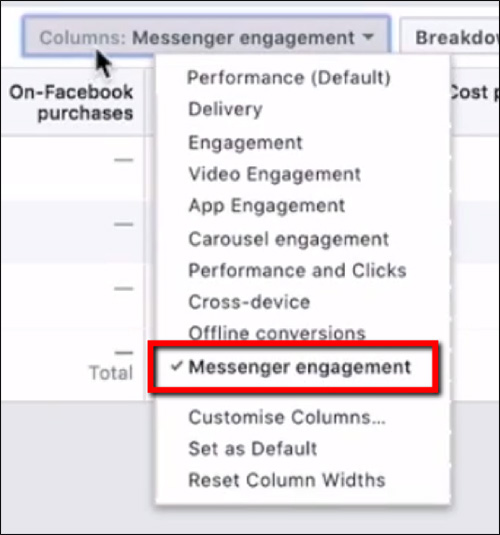 Impegno con Messenger