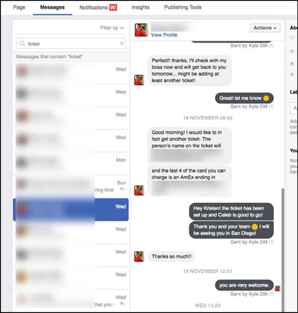 messaggi di esempio