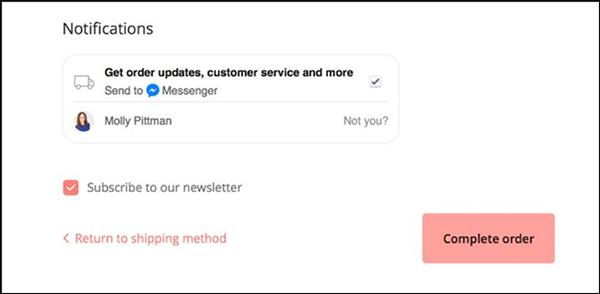 ordina un messaggio di esempio di aggiornamenti