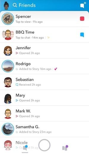 Snapchat-amici-list