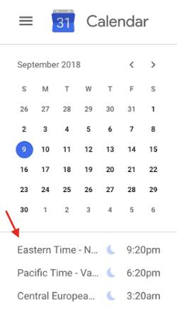 "google-calendar-world-clock ""width ="" 250 ""style ="" width: 250px; blocco di visualizzazione; margin-left: auto; margin-right: auto; ""srcset ="" https://blog.hubspot.com/hs-fs/hubfs/google-calendar-world-clock.png?t=1536571987949&width=125&name=google-calendar-world-clock. png 125w, https://blog.hubspot.com/hs-fs/hubfs/google-calendar-world-clock.png?t=1536571987949&width=250&name=google-calendar-world-clock.png 250w, https: // blog.hubspot.com/hs-fs/hubfs/google-calendar-world-clock.png?t=1536571987949&width=375&name=google-calendar-world-clock.png 375w, https://blog.hubspot.com/hs -fs / hubfs / google-calendar-world-clock.png? t = 1536571987949 & width = 500 & name = google-calendar-world-clock.png 500w, https://blog.hubspot.com/hs-fs/hubfs/google- calendar-world-clock.png? t = 1536571987949 & width = 625 & name = google-calendar-world-clock.png 625w, https://blog.hubspot.com/hs-fs/hubfs/google-calendar-world-clock.png ? t = 1536571987949 & width = 750 & name = google-calendar-world-clock.png 750w ""sizes ="" (larghezza massima: 250px) 100vw, 250px"