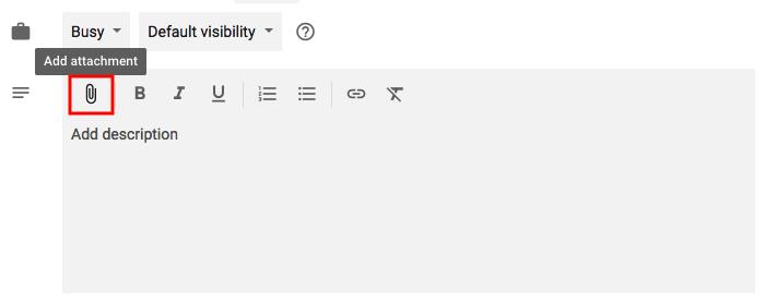 "Funzionalità per aggiungere allegati agli eventi in Google Calendar con icona graffetta evidenziata in rosso ""width ="" 699 ""style ="" width: 699px; ""srcset ="" https://blog.hubspot.com/hs-fs/hubfs/add -meeting-attachments.png? t = 1536571987949 & width = 350 & name = add-meeting-attachments.png 350w, https://blog.hubspot.com/hs-fs/hubfs/add-meeting-attachments.png?t=1536571987949&width= 699 & name = add-meeting-attachments.png 699w, https://blog.hubspot.com/hs-fs/hubfs/add-meeting-attachments.png?t=1536571987949&width=1049&name=add-meeting-attachments.png 1049w, https://blog.hubspot.com/hs-fs/hubfs/add-meeting-attachments.png?t=1536571987949&width=1398&name=add-meeting-attachments.png 1398w, https://blog.hubspot.com/hs -fs / hubfs / add-meeting-attachments.png? t = 1536571987949 & width = 1748 & name = add-meeting-attachments.png 1748w, https://blog.hubspot.com/hs-fs/hubfs/add-meeting-attachments. png? t = 1536571987949 & width = 2097 & name = add-meeting-attachments.png 2097w ""sizes ="" (larghezza massima: 699 px) 100vw, 699 px"