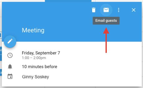 """Icona della busta nell'evento di Google Calendar per inviare email agli ospiti in merito a una riunione """"width ="""" 458 """"style ="""" width: 458px; blocco di visualizzazione; margin-left: auto; margin-right: auto; """"srcset ="""" https://blog.hubspot.com/hs-fs/hubfs/email-guests.png?t=1536571987949&width=229&name=email-guests.png 229w, https: // blog .hubspot.com / hs-fs / hubfs / email-guests.png? t = 1536571987949 & width = 458 & name = email-guests.png 458w, https://blog.hubspot.com/hs-fs/hubfs/email-guests. png? t = 1536571987949 & width = 687 & name = email-guests.png 687w, https://blog.hubspot.com/hs-fs/hubfs/email-guests.png?t=1536571987949&width=916&name=email-guests.png 916w, https://blog.hubspot.com/hs-fs/hubfs/email-guests.png?t=1536571987949&width=1145&name=email-guests.png 1145w, https://blog.hubspot.com/hs-fs/hubfs /email-guests.png?t=1536571987949&width=1374&name=email-guests.png 1374w """"sizes ="""" (larghezza massima: 458 px) 100vw, 458 px"""