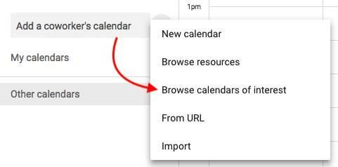 """Opzione menu a discesa per sfogliare calendari di interesse """"srcset ="""" https://blog.hubspot.com/hs-fs/hubfs/browse-interesting-calendars-google.png?t=1536571987949&width=241&name=browse-interesting-calendars- google.png 241w, https://blog.hubspot.com/hs-fs/hubfs/browse-interesting-calendars-google.png?t=1536571987949&width=481&name=browse-interesting-calendars-google.png 481w, https: //blog.hubspot.com/hs-fs/hubfs/browse-interesting-calendars-google.png?t=1536571987949&width=722&name=browse-interesting-calendars-google.png 722w, https://blog.hubspot.com /hs-fs/hubfs/browse-interesting-calendars-google.png?t=1536571987949&width=962&name=browse-interesting-calendars-google.png 962w, https://blog.hubspot.com/hs-fs/hubfs/ browse-interesting-calendars-google.png? t = 1536571987949 & width = 1203 & name = browse-interesting-calendars-google.png 1203w, https://blog.hubspot.com/hs-fs/hubfs/browse-interesting-calendars-google .png? t = 1536571987949 & width = 1443 & name = browse-interesting-calendars-google.png 1443w """"sizes ="""" (ma x-width: 481px) 100vw, 481px"""