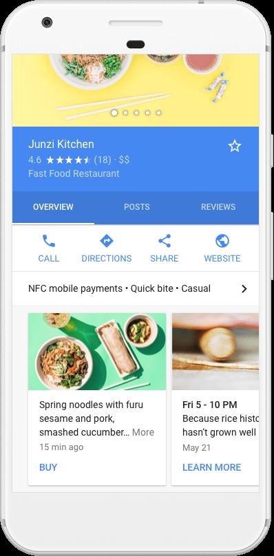 Esempio di Google Post