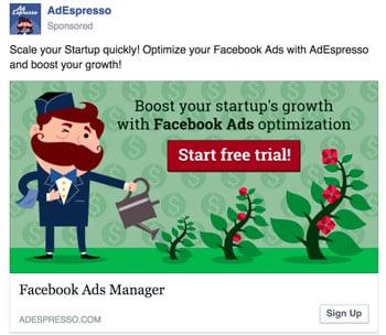 avvio di annunci di Facebook