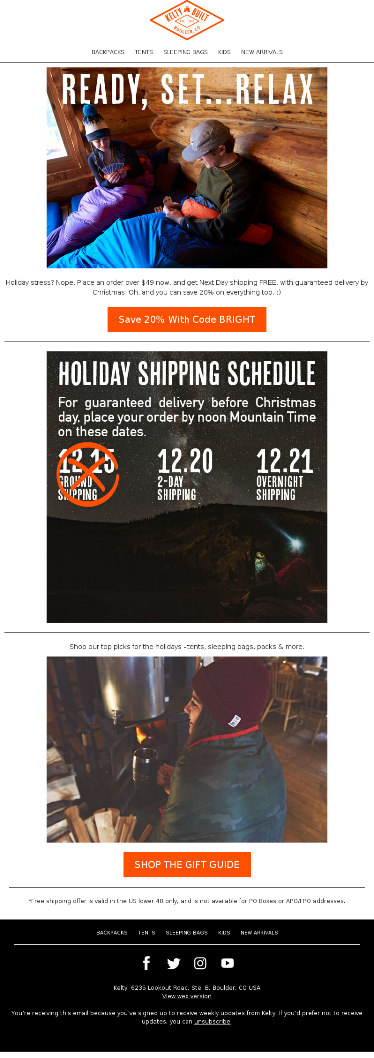 Email vacanza Marekting Kelty Natale