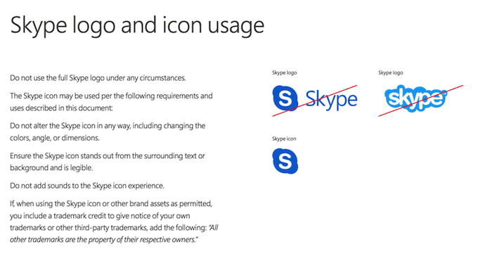 "skype-brand-guidelines ""width ="" 690 ""style ="" width: 690px; ""srcset ="" https://blog.hubspot.com/hs-fs/hubfs/skype-brand-guidelines.png?t=1537726129730&width= 345 & name = skype-brand-guidelines.png 345w, https://blog.hubspot.com/hs-fs/hubfs/skype-brand-guidelines.png?t=1537726129730&width=690&name=skype-brand-guidelines.png 690w, https://blog.hubspot.com/hs-fs/hubfs/skype-brand-guidelines.png?t=1537726129730&width=1035&name=skype-brand-guidelines.png 1035w, https://blog.hubspot.com/hs -fs / hubfs / skype-brand-guidelines.png? t = 1537726129730 & width = 1380 & name = skype-brand-guidelines.png 1380w, https://blog.hubspot.com/hs-fs/hubfs/skype-brand-guidelines. png? t = 1537726129730 & width = 1725 & name = skype-brand-guidelines.png 1725w, https://blog.hubspot.com/hs-fs/hubfs/skype-brand-guidelines.png?t=1537726129730&width=2070&name=skype-brand -guidelines.png 2070w ""sizes ="" (larghezza massima: 690 px) 100vw, 690 px"
