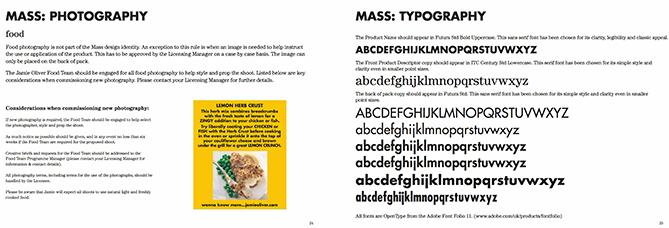 Linee guida tipografiche per Jamie Oliver