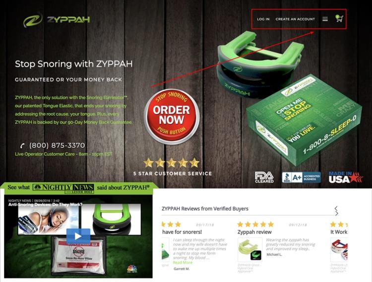 ZYPPAH mobile primo desktop design