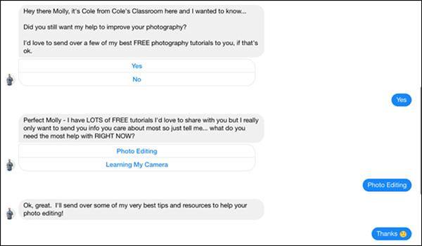 Commento agli esempi di Messenger