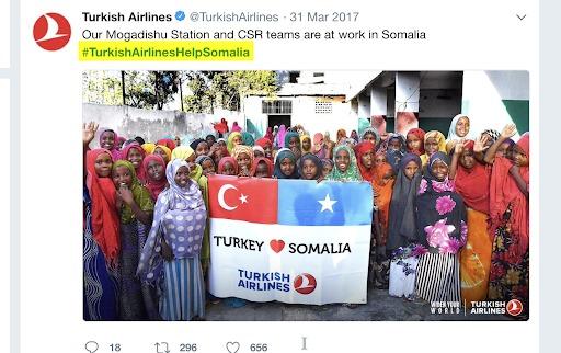 influencer marketing tweet di compagnie aeree turche