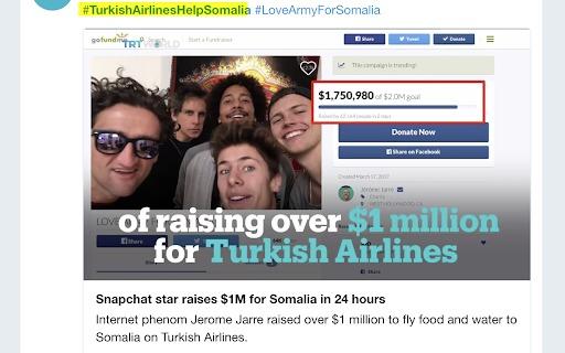influencer marketing turkish airlines gofundme