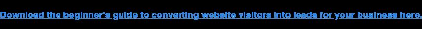 Scarica la guida per principianti per convertire i visitatori del sito web in lead per la tua attività qui.