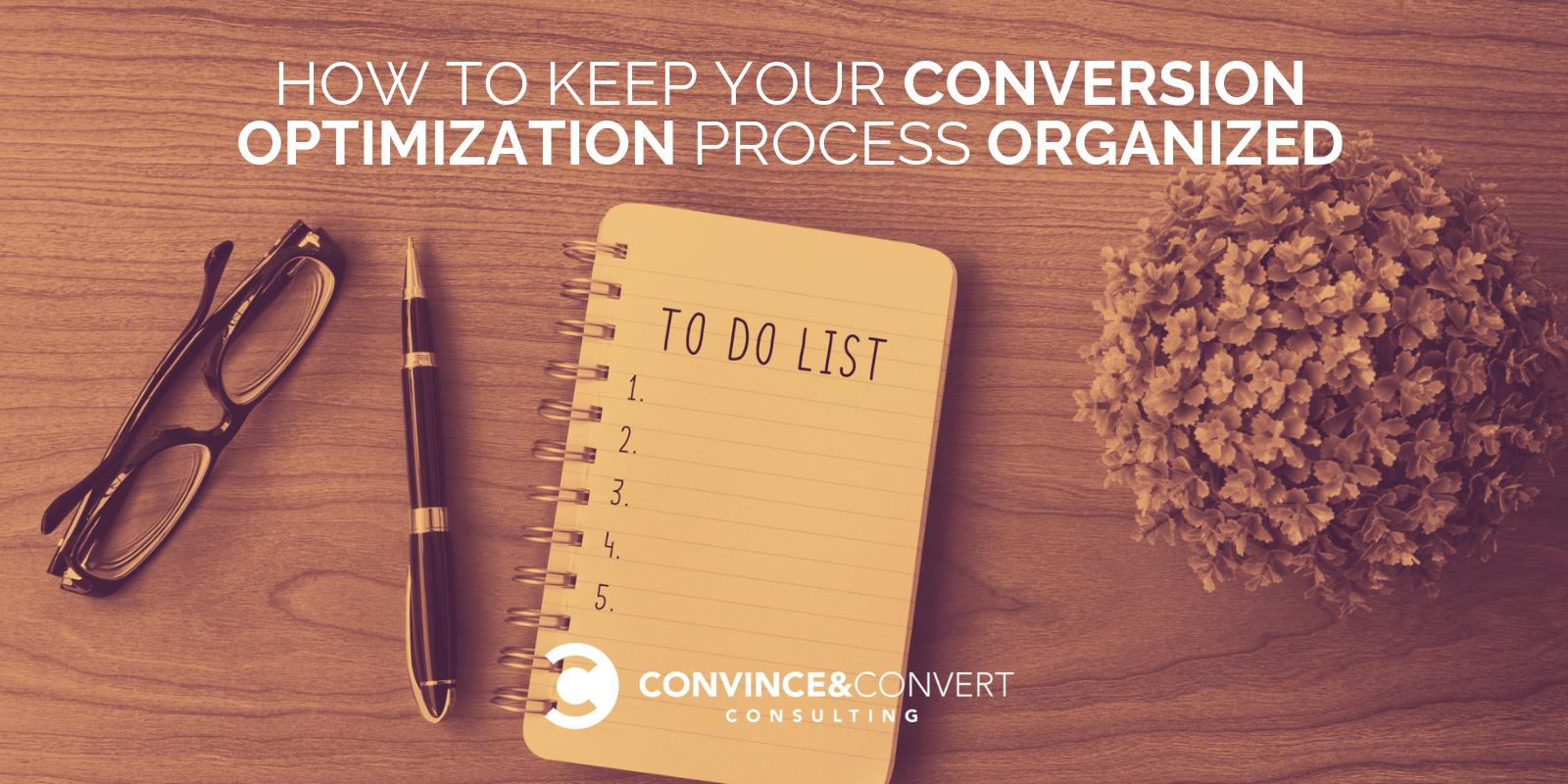 processo di ottimizzazione della conversione organizzato