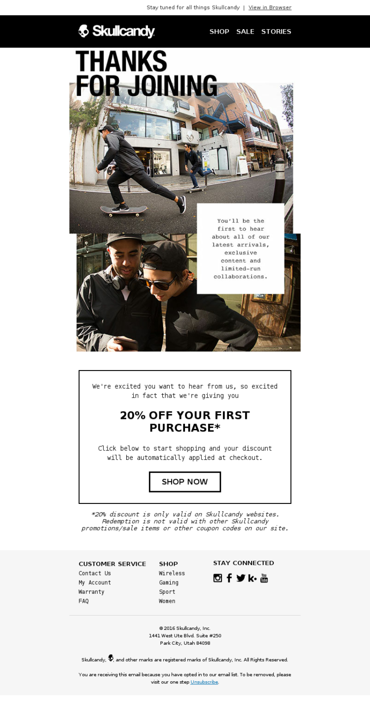 Skullcandy-Welcome-mail