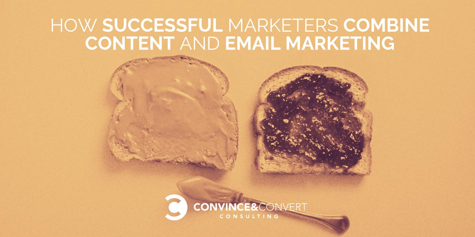 combinare il contenuto di email marketing