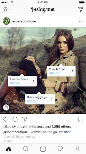 storie di instagram shopping post esempio