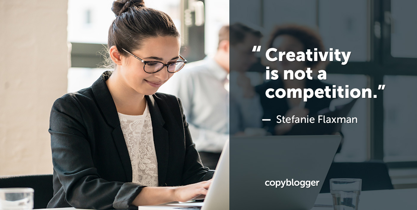 La creatività non è una competizione.