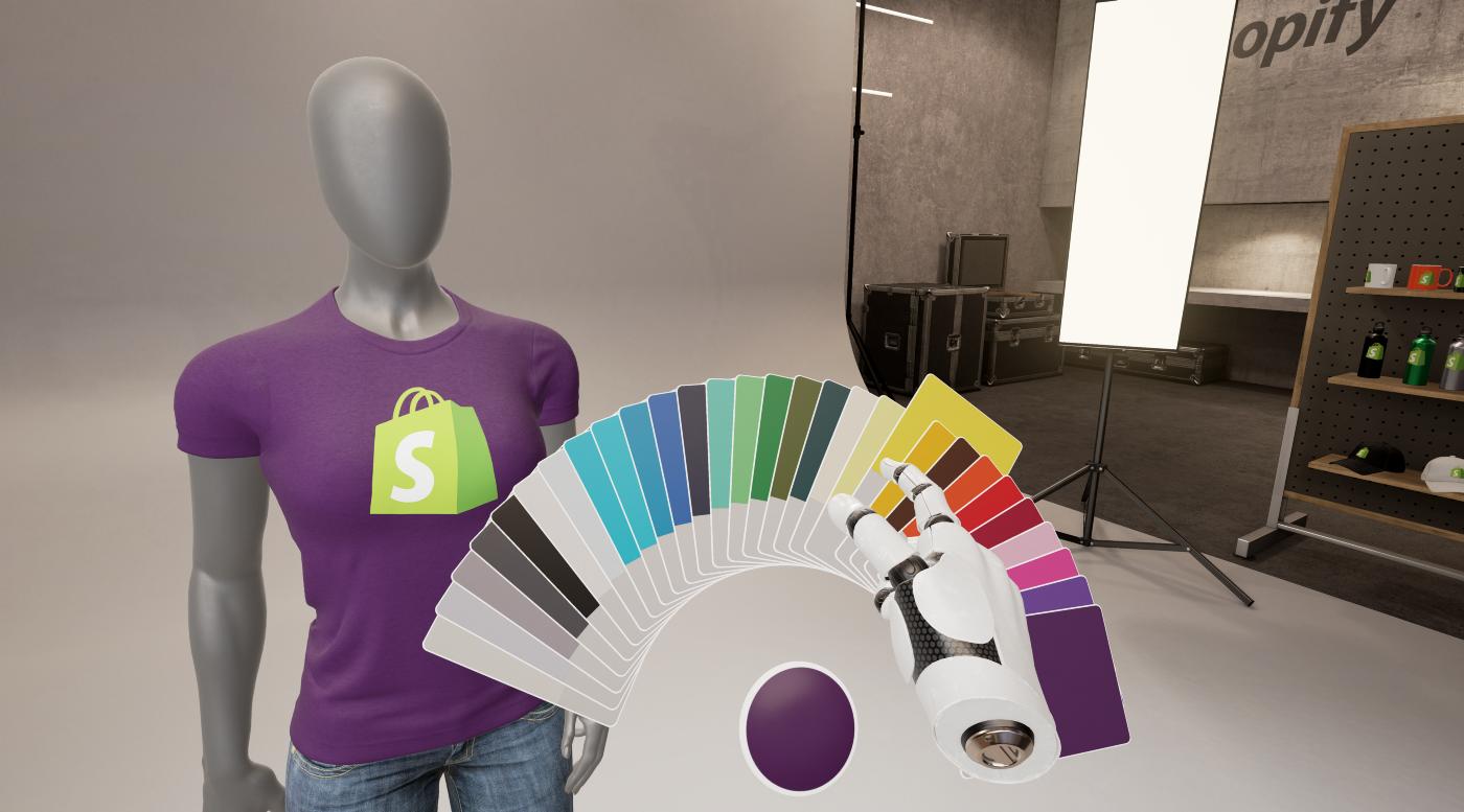 Passeggiata virtuale della maglietta Shopify sul manichino