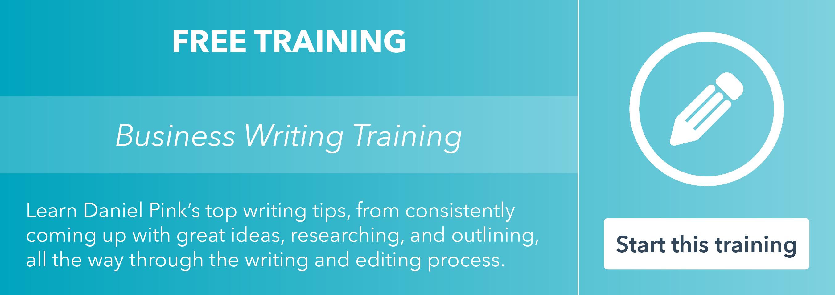 Segui la formazione di scrittura aziendale gratuita di HubSpot Academy