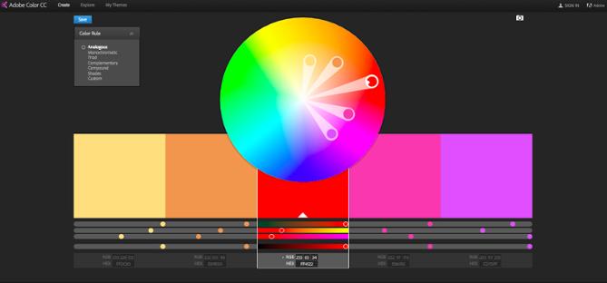 "Ruota dei colori sulla dashboard di Adobe Color ""srcset ="" https://blog.hubspot.com/hs-fs/hubfs/Screenshot_2015-08-03_17.24.23.png?t=1538627526611&width=335&height=156&name=Screenshot_2015-08-03_17 .24.23.png 335w, https://blog.hubspot.com/hs-fs/hubfs/Screenshot_2015-08-03_17.24.23.png?t=1538627526611&width=669&height=312&name=Screenshot_2015-08-03_17.24.23.png 669w , https://blog.hubspot.com/hs-fs/hubfs/Screenshot_2015-08-03_17.24.23.png?t=1538627526611&width=1004&height=468&name=Screenshot_2015-08-03_17.24.23.png 1004w, https: // blog.hubspot.com/hs-fs/hubfs/Screenshot_2015-08-03_17.24.23.png?t=1538627526611&width=1338&height=624&name=Screenshot_2015-08-03_17.24.23.png 1338w, https://blog.hubspot.com /hs-fs/hubfs/Screenshot_2015-08-03_17.24.23.png?t=1538627526611&width=1673&height=780&name=Screenshot_2015-08-03_17.24.23.png 1673w, https://blog.hubspot.com/hs-fs/ hubfs / Screenshot_2015-08-03_17.24.23.png? t = 1538627526611 & width = 2007 & height = 936 & name = Screenshot_2015-08-03_17.24.23.png 2007w ""sizes ="" (max-w idth: 669px) 100vw, 669px"