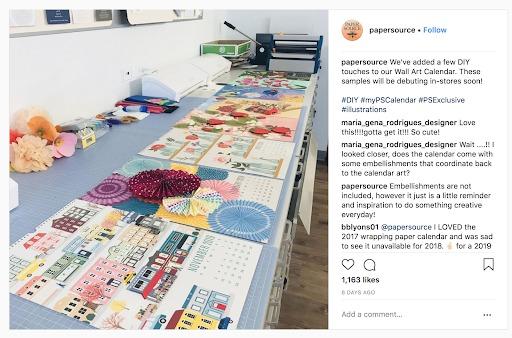 instagram marketing fonte di carta
