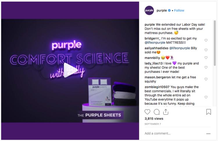 instagram marketing post viola