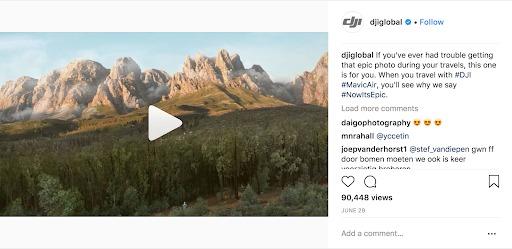 instagram marketing video dji