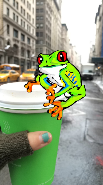 """Amazing Snapchat drawing of frog on coffee cup"""" srcset=""""https://blog.hubspot.com/hs-fs/hubfs/frog-on-cup-snapchat.png?t=1539571477767&width=178&height=318&name=frog-on-cup-snapchat.png 178w, https://blog.hubspot.com/hs-fs/hubfs/frog-on-cup-snapchat.png?t=1539571477767&width=356&height=635&name=frog-on-cup-snapchat.png 356w, https://blog.hubspot.com/hs-fs/hubfs/frog-on-cup-snapchat.png?t=1539571477767&width=534&height=953&name=frog-on-cup-snapchat.png 534w, https://blog.hubspot.com/hs-fs/hubfs/frog-on-cup-snapchat.png?t=1539571477767&width=712&height=1270&name=frog-on-cup-snapchat.png 712w, https://blog.hubspot.com/hs-fs/hubfs/frog-on-cup-snapchat.png?t=1539571477767&width=890&height=1588&name=frog-on-cup-snapchat.png 890w, https://blog.hubspot.com/hs-fs/hubfs/frog-on-cup-snapchat.png?t=1539571477767&width=1068&height=1905&name=frog-on-cup-snapchat.png 1068w"""" sizes=""""(max-width: 356px) 100vw, 356px"""