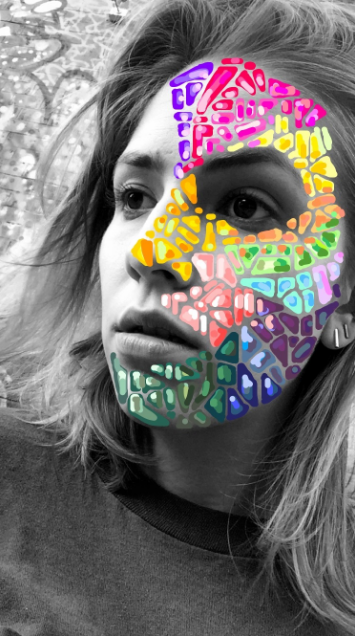 """face-mosaic-snapchat.png"""" title=""""face-mosaic-snapchat.png"""" width=""""355"""" height=""""636"""" srcset=""""https://blog.hubspot.com/hs-fs/hubfs/face-mosaic-snapchat.png?t=1539571477767&width=178&height=318&name=face-mosaic-snapchat.png 178w, https://blog.hubspot.com/hs-fs/hubfs/face-mosaic-snapchat.png?t=1539571477767&width=355&height=636&name=face-mosaic-snapchat.png 355w, https://blog.hubspot.com/hs-fs/hubfs/face-mosaic-snapchat.png?t=1539571477767&width=533&height=954&name=face-mosaic-snapchat.png 533w, https://blog.hubspot.com/hs-fs/hubfs/face-mosaic-snapchat.png?t=1539571477767&width=710&height=1272&name=face-mosaic-snapchat.png 710w, https://blog.hubspot.com/hs-fs/hubfs/face-mosaic-snapchat.png?t=1539571477767&width=888&height=1590&name=face-mosaic-snapchat.png 888w, https://blog.hubspot.com/hs-fs/hubfs/face-mosaic-snapchat.png?t=1539571477767&width=1065&height=1908&name=face-mosaic-snapchat.png 1065w"""" sizes=""""(max-width: 355px) 100vw, 355px"""
