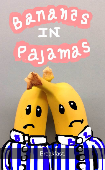 """Easy Snapchat drawing of bananas in pajamas"""" title=""""bananas-in-pajamas-snapchat.png"""" width=""""356"""" height=""""575"""" srcset=""""https://blog.hubspot.com/hs-fs/hubfs/bananas-in-pajamas-snapchat.png?t=1539571477767&width=178&height=288&name=bananas-in-pajamas-snapchat.png 178w, https://blog.hubspot.com/hs-fs/hubfs/bananas-in-pajamas-snapchat.png?t=1539571477767&width=356&height=575&name=bananas-in-pajamas-snapchat.png 356w, https://blog.hubspot.com/hs-fs/hubfs/bananas-in-pajamas-snapchat.png?t=1539571477767&width=534&height=863&name=bananas-in-pajamas-snapchat.png 534w, https://blog.hubspot.com/hs-fs/hubfs/bananas-in-pajamas-snapchat.png?t=1539571477767&width=712&height=1150&name=bananas-in-pajamas-snapchat.png 712w, https://blog.hubspot.com/hs-fs/hubfs/bananas-in-pajamas-snapchat.png?t=1539571477767&width=890&height=1438&name=bananas-in-pajamas-snapchat.png 890w, https://blog.hubspot.com/hs-fs/hubfs/bananas-in-pajamas-snapchat.png?t=1539571477767&width=1068&height=1725&name=bananas-in-pajamas-snapchat.png 1068w"""" sizes=""""(max-width: 356px) 100vw, 356px"""