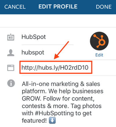 "Link in bio dell'account Instagram di HubSpot ""srcset ="" https://blog.hubspot.com/hs-fs/hubfs/edit-link-instagram-profile-1.png?t=1539673814433&width=200&name=edit-link-instagram -profile-1.png 200w, https://blog.hubspot.com/hs-fs/hubfs/edit-link-instagram-profile-1.png?t=1539673814433&width=400&name=edit-link-instagram-profile- 1.png 400w, https://blog.hubspot.com/hs-fs/hubfs/edit-link-instagram-profile-1.png?t=1539673814433&width=600&name=edit-link-instagram-profile-1.png 600w, https://blog.hubspot.com/hs-fs/hubfs/edit-link-instagram-profile-1.png?t=1539673814433&width=800&name=edit-link-instagram-profile-1.png 800w, https : //blog.hubspot.com/hs-fs/hubfs/edit-link-instagram-profile-1.png? t = 1539673814433 & width = 1000 & name = edit-link-instagram-profile-1.png 1000w, https: // blog.hubspot.com/hs-fs/hubfs/edit-link-instagram-profile-1.png?t=1539673814433&width=1200&name=edit-link-instagram-profile-1.png 1200w ""sizes ="" (larghezza massima : 400px) 100vw, 400px"